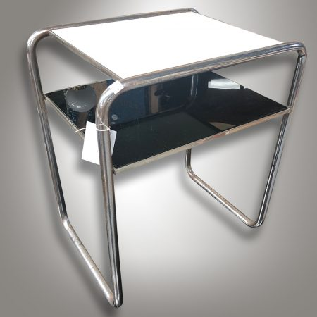 Chrome antique table / bauhaus